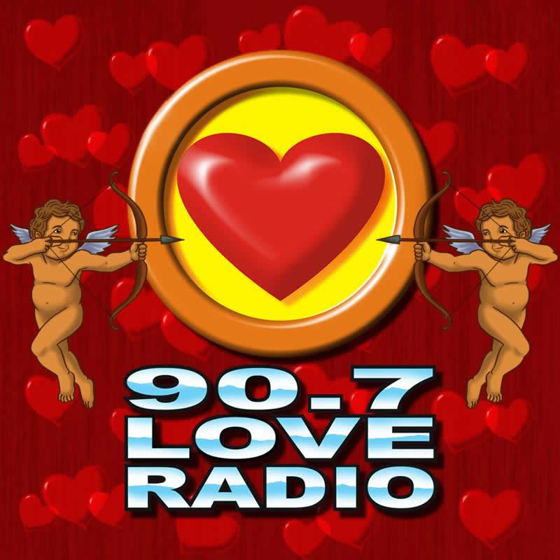DZMB 90.7 Love Radio FM Radio station logo