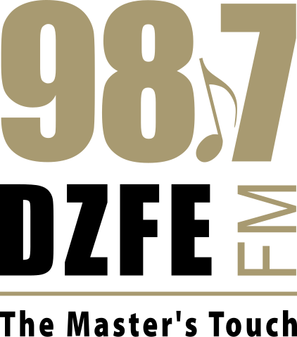 98.7 DZFE The Master's Touch Manila FM Radio Station logo
